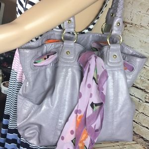 LAVENDER ALDO HANDBAG WITH ATTACHED SCARF-GREAT